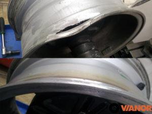 дырка в литом диске - сварка и ремонт