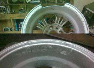 Ремонт литого диска до и после