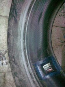 пример после вулканизации шины